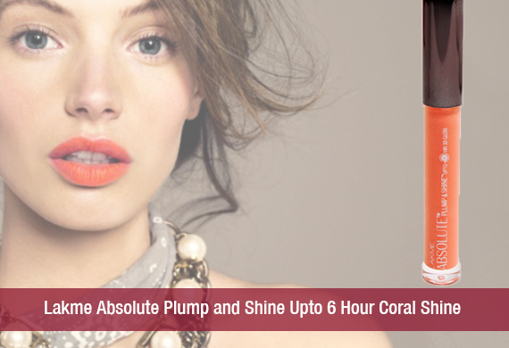 Lakme Absolute Plump and Shine Upto 6 Hour Coral Shine