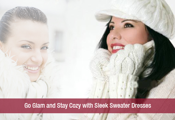 Go Glam and Stay Cozy with Sleek Sweater Dresses