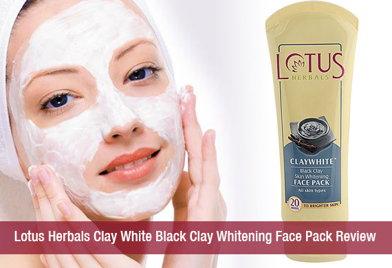 Lotus Herbals Clay White Black Clay Whitening Face Pack Review