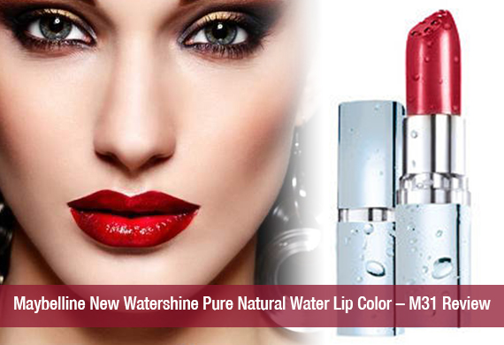 Maybelline New Watershine Pure Natural Water Lip Color – M31 Review