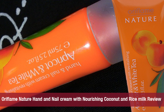 Oriflame Nature Hand and Nail cream with Nourishing Coconut and Rice milk Review