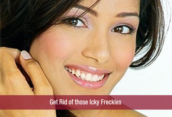 Get Rid of those Icky Freckles