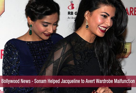 Bollywood News - Sonam Helped Jacqueline to Avert Wardrobe Malfunction