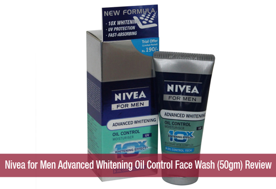 Nivea for Men Advanced Whitening Oil Control Face Wash (50gm) Review