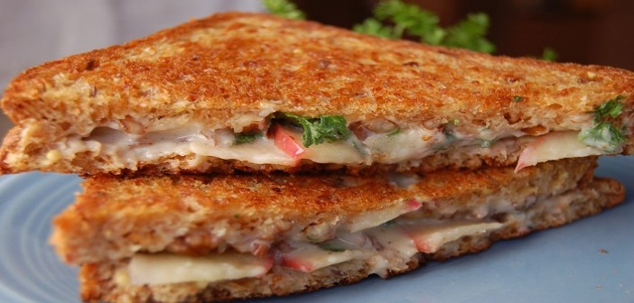 How to make: Veg Grilled Cheese Sandwich