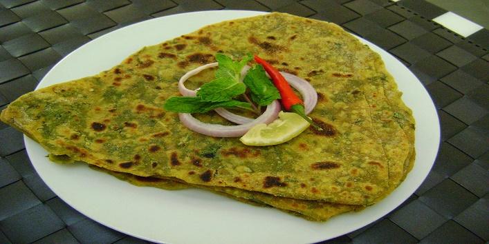 Pudina Paratha Recipe (Mint Lachha Paratha), How to make Mint Paratha