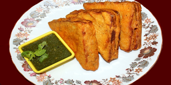 how to make stuffed bread pakora