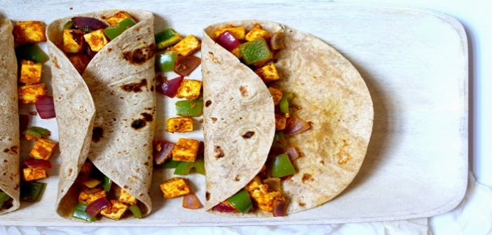 Kids' Favorite Lunch Box Recipe: Paneer Tikka Roll