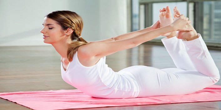 How to get firm breasts with Dhanurasana