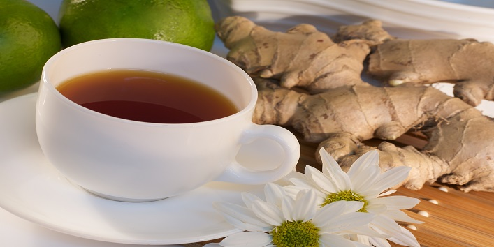Ginger Tea for its antibacterial and anti-ageing properties