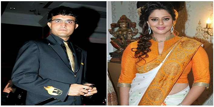 Nagma and Sourav Ganguly