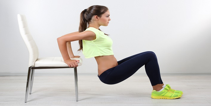 how to do chair dips