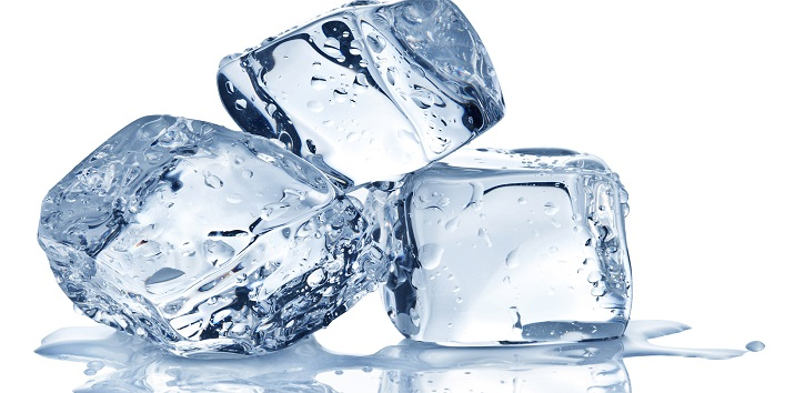 Ice cubes for your cheeks and eyes