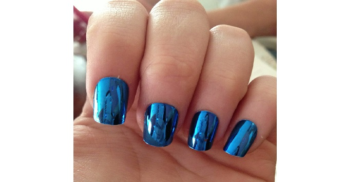 Metallic blue