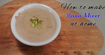rava kheer recipe