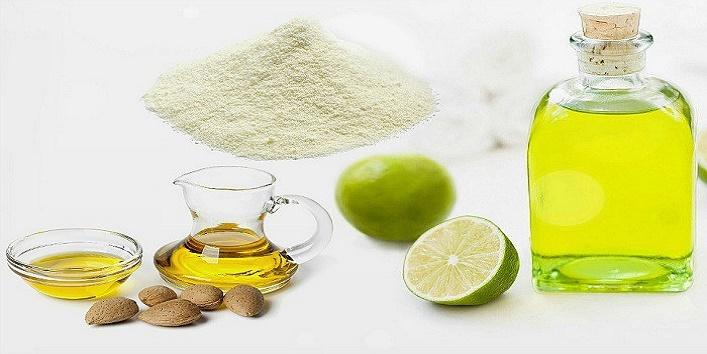 Milk-powder-honey-almond-oil-and-lemon-juice-mask