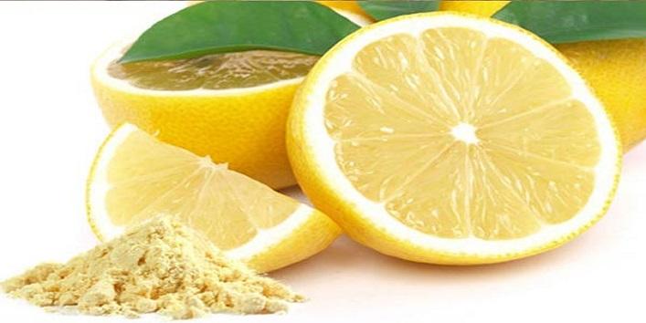 Chickpea flour and lemon juice
