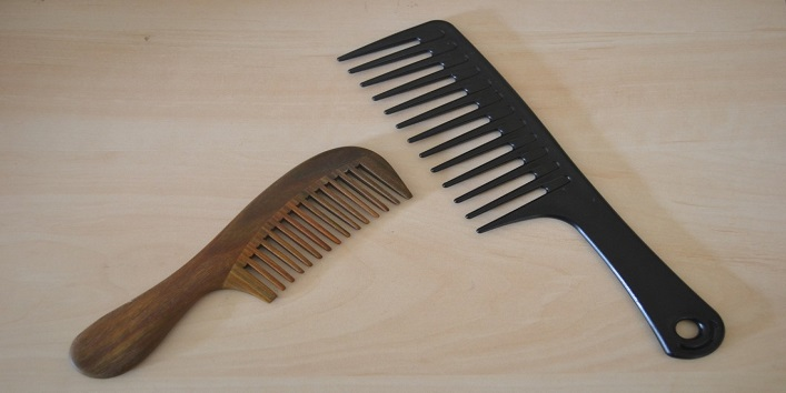 Use wide tooth comb