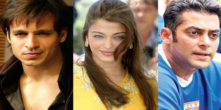 Aishwarya Rai, Salman Khan and Vivek Oberoi