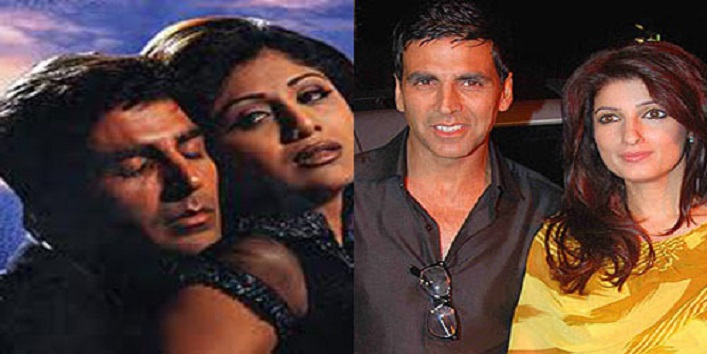Akshay Kumar, Twinkle Khanna and Shilpa Shetty