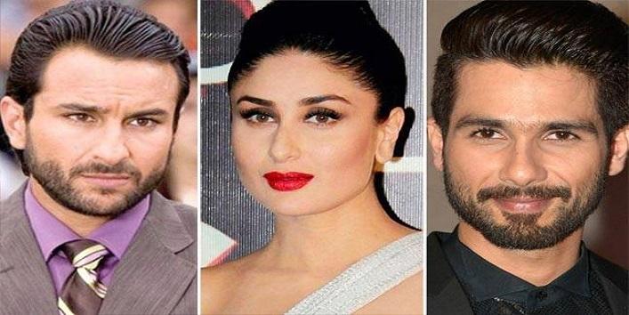 Kareena Kapoor, Shahid Kapoor and Saif Ali Khan