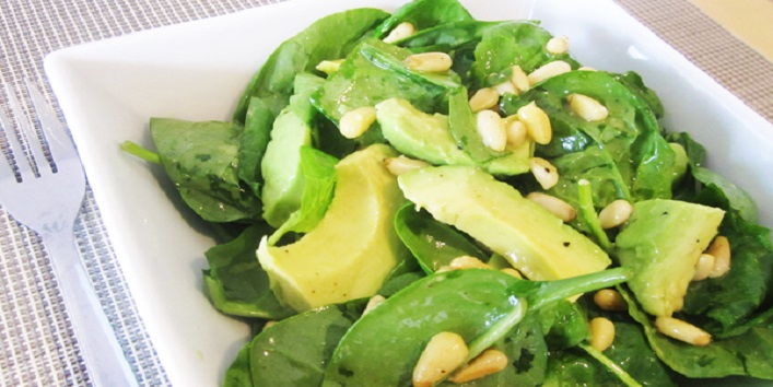 Spinach and avocado