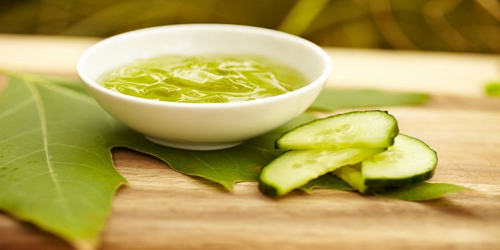 Cucumber paste for a clear skin