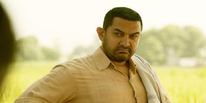 Aamir Khan in the movie Dangal