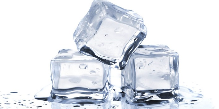 Ice cubes for removing dead skin cells