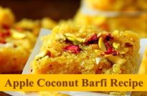 apple coconut barfi recipe