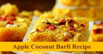 apple coconut barfi recipe