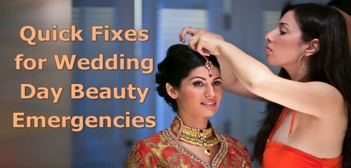 5 Quick Fixes for Wedding Day Beauty Emergencies