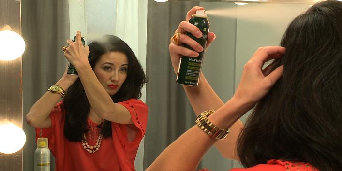 Apply dry shampoo