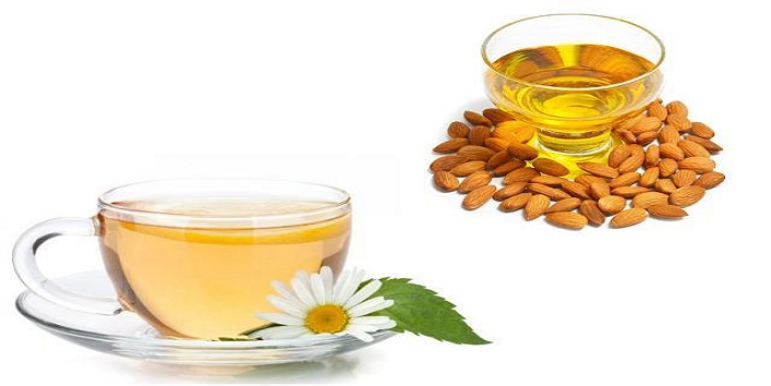 Almond oil and chamomile tea cleanser for soft and supple skin