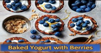 Baked Yogurt with Berries
