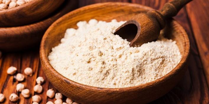 Gram flour with egg white