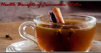 Health Benefits of Cinnamon Water